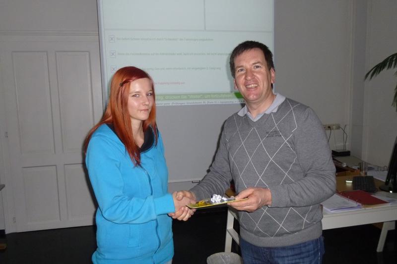 Gewinnerin des ÖAMTC - Fahrsicherheitstrainings ;)