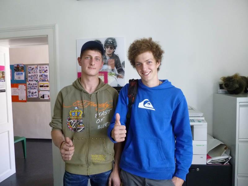 Fabian und Peter
