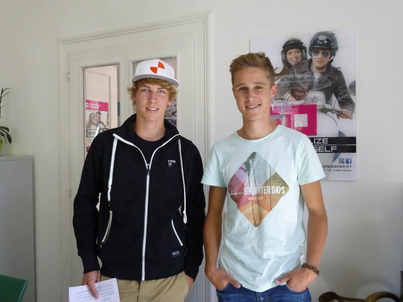 Fabio und Benedikt